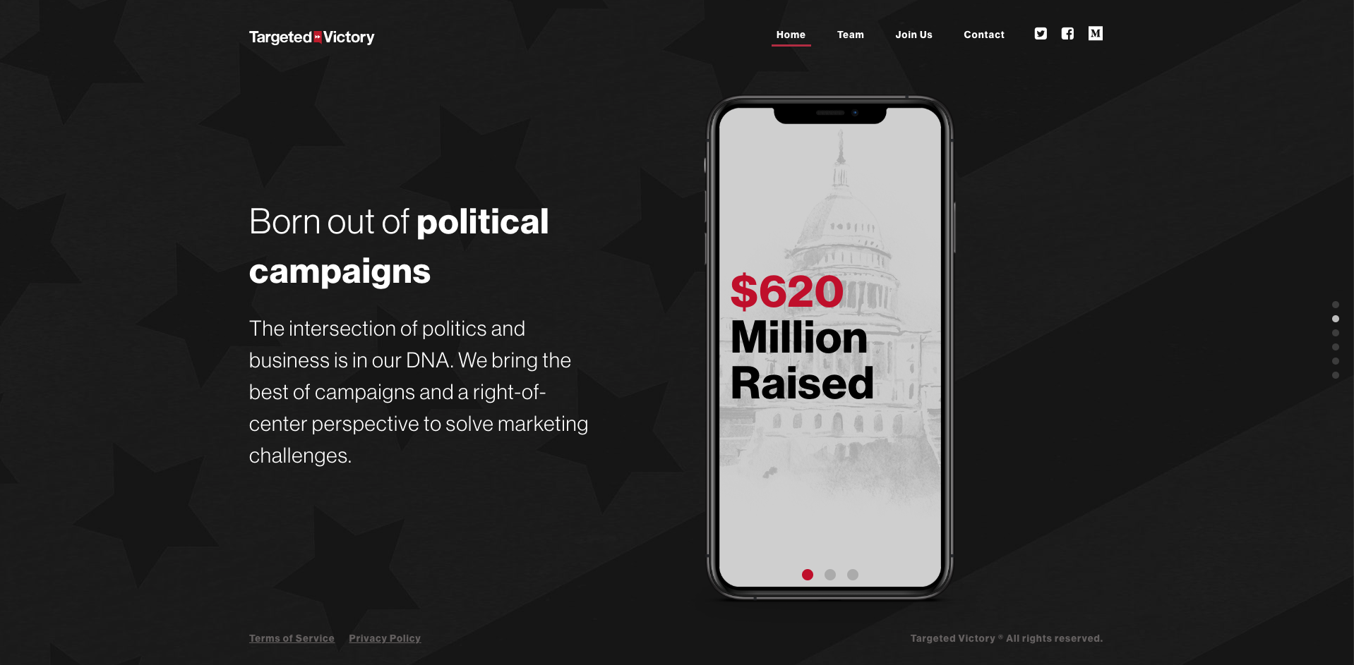 Targeted Victory website screenshot