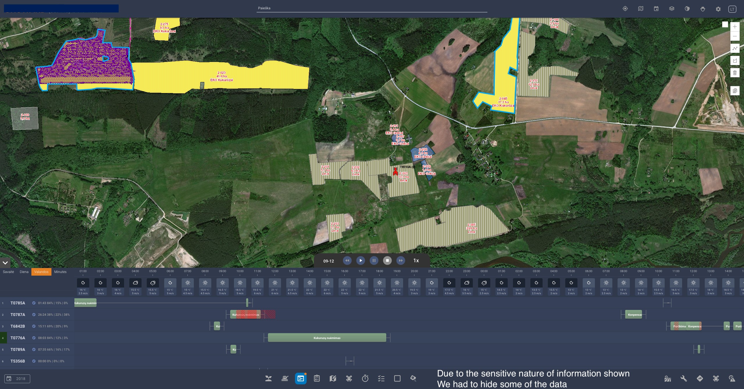 Agromap platform screenshot