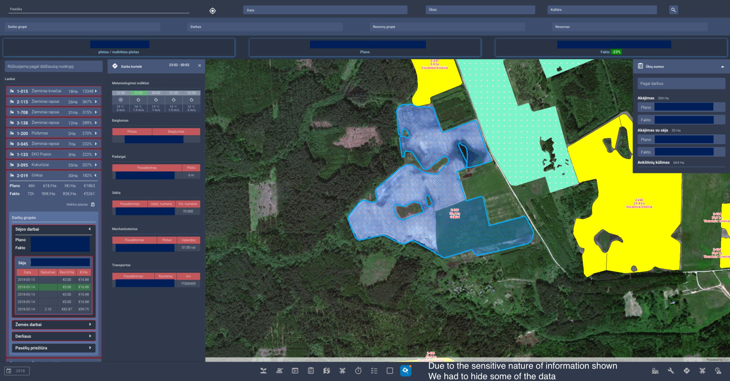 Agromap system screenshot